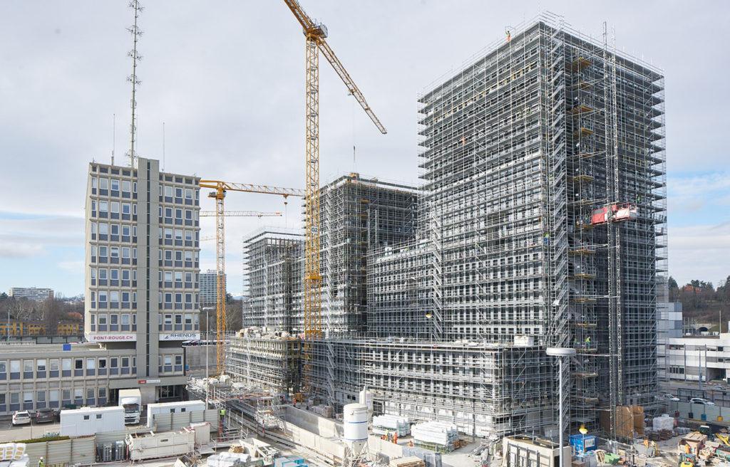 große Baustelle verdeutlicht Kostensicherheit bei aktuellen Bauboom