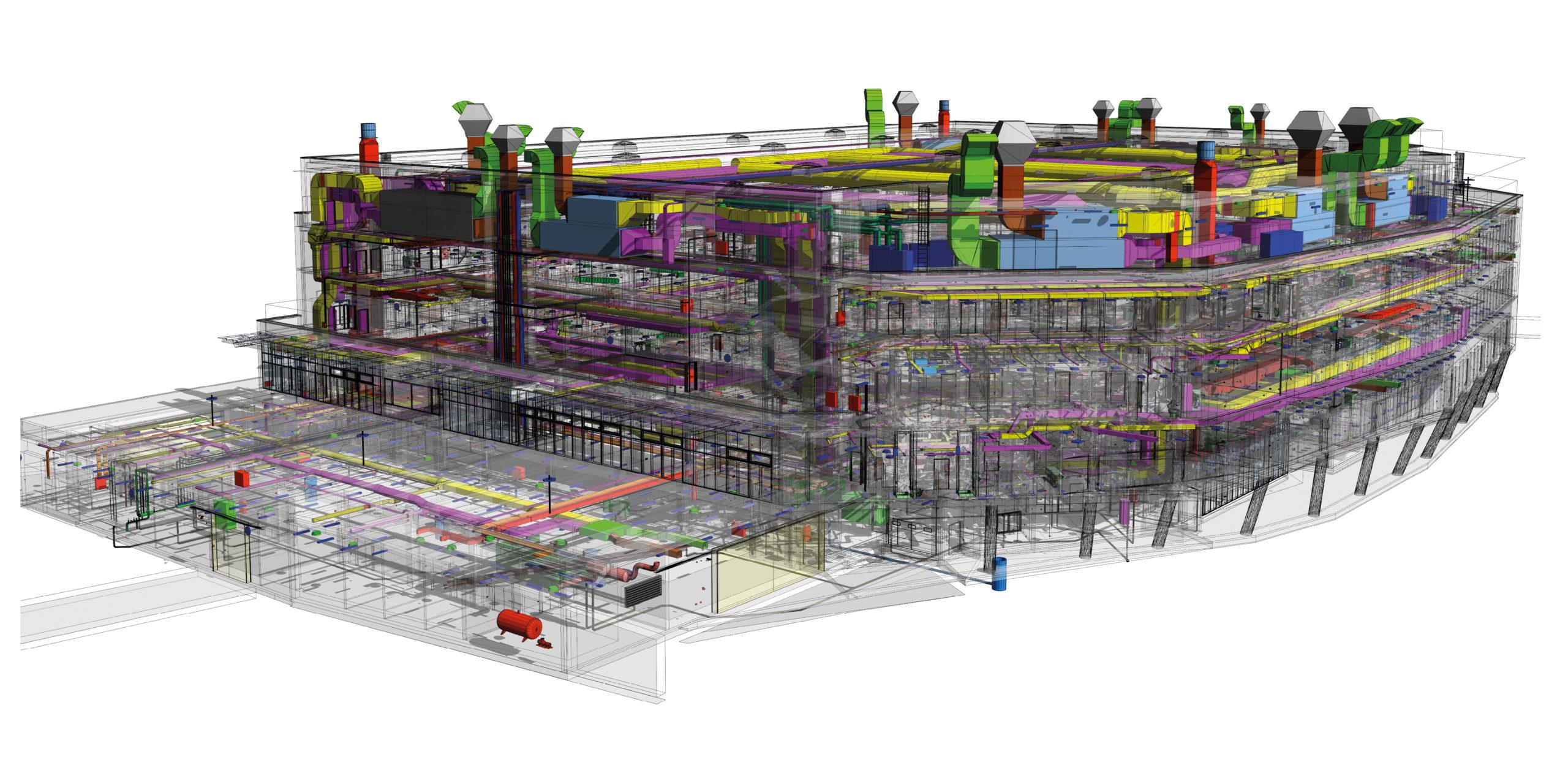 BIM 7D Ansicht eines Gebäudes